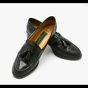 Cole Haan Black Leather Classic Tassel Loafer